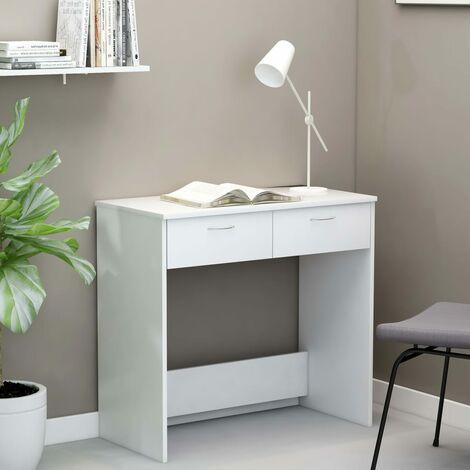 Desk White 80x40x75 cm Chipboard