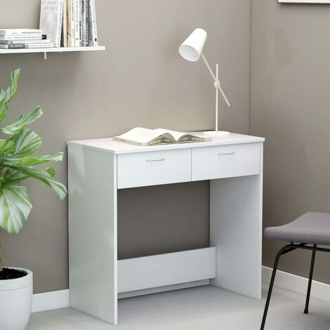 Desk White 80x40x75 cm Chipboard
