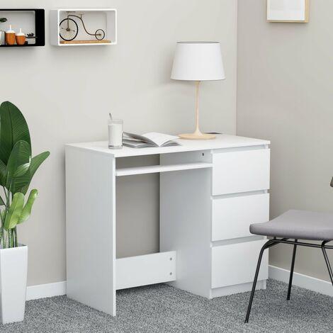 Desk White 90x45x76 cm Chipboard