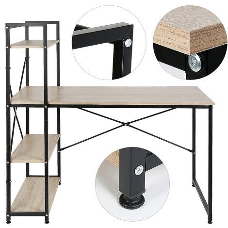 Desk with oak-colored shelf 120 * 64 * 121cm