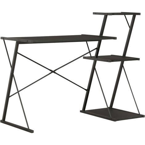 Desk with Shelf Black 116x50x93 cm