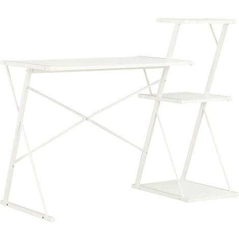 Desk with Shelf White 116x50x93 cm