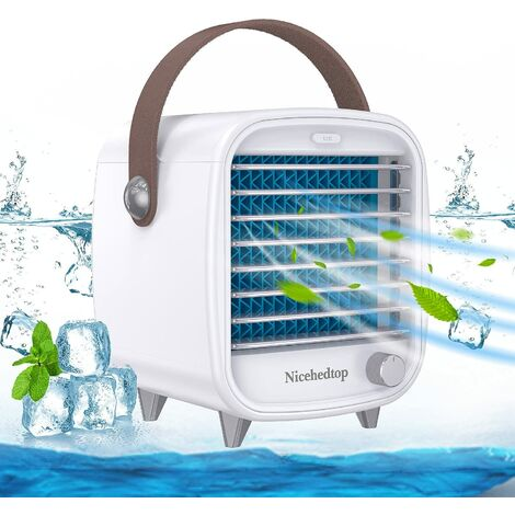 """main image of """"Desktop Portable Air Cooler for Office, Personal Mini Air Conditioner Units for Home, Small Mobile Cooling Air Ice Fan with"""""""