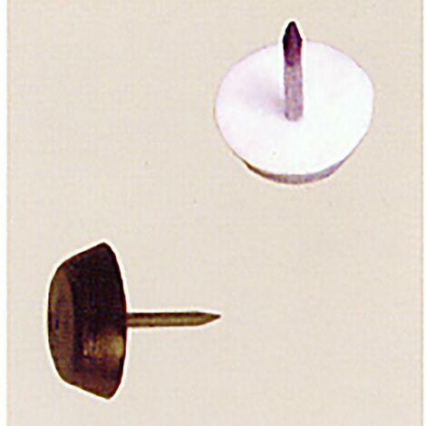 """main image of """"Deslizador Mueble Patin Con Clavo 15Mm Me Blanco Micel 100 Pz 60503"""""""