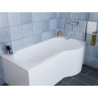Desner P Shape Right Hand Bath suite - Close Coupled Toilet + Basin Vanity Unit