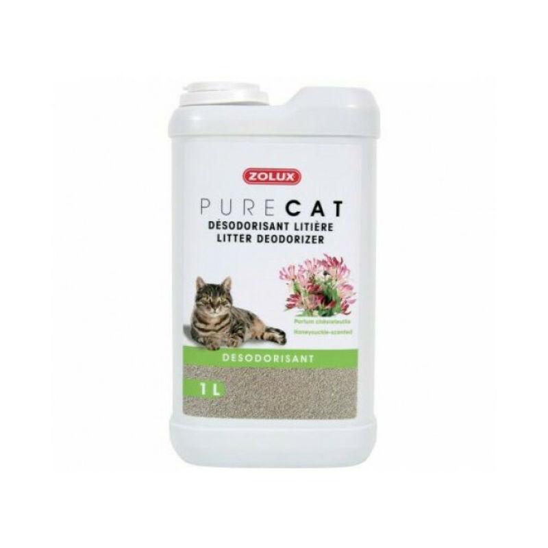 Zolux - Désodorisant pour litière Purecat 1 Litre - Chèvrefeuille