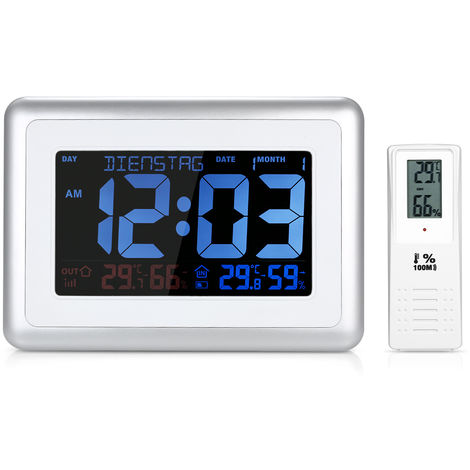 Despertador Temperatura Medidor de humedad, Estacion meteorologica