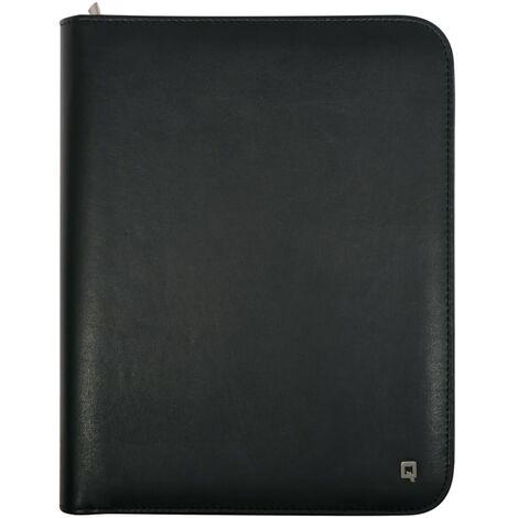 DESQ Dossier de conférence A5 avec bloc-notes et porte-tablette Noir