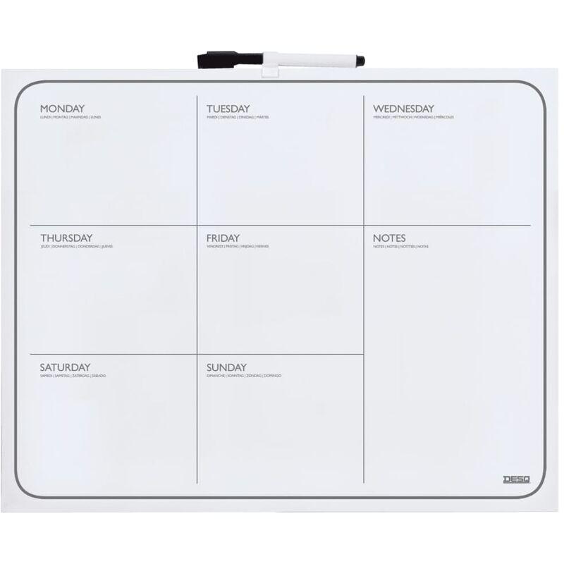 Image of DESQ Frameless Magnetic Week Planner 40x50 cm White - White