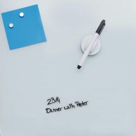 DESQ Tableau magnétique en verre 45 x 45 cm Blanc
