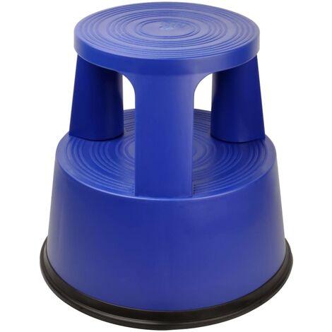 DESQ Taburete escalera azul 42,6 cm