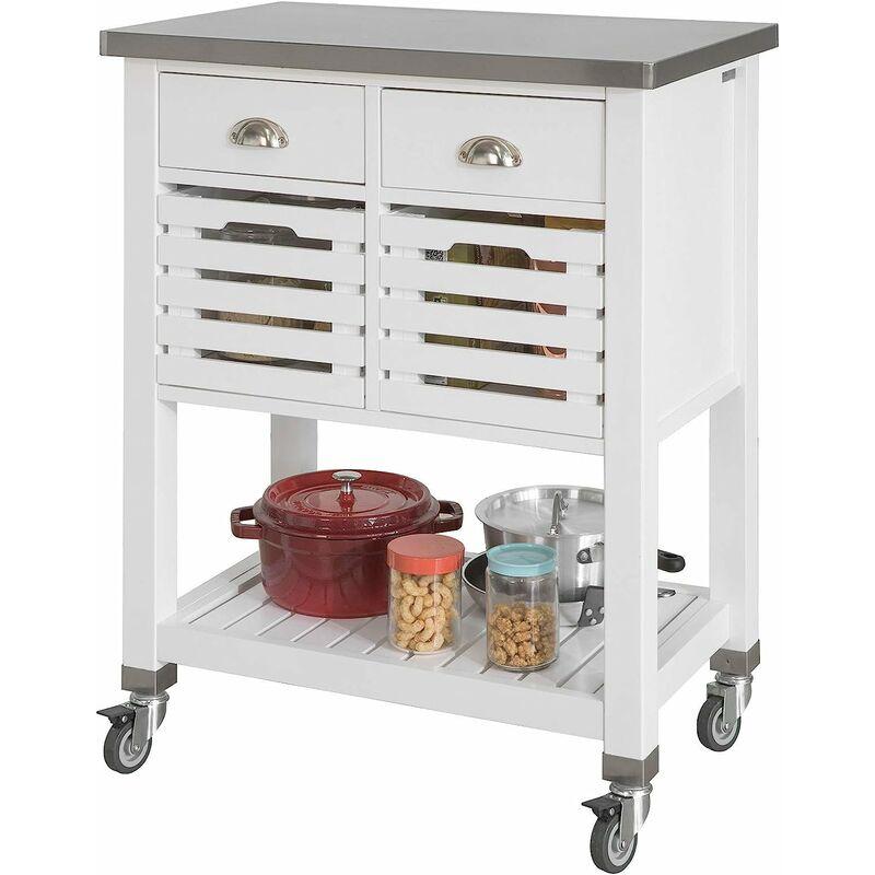Desserte roulettes armoire de rangement cuisine desserte - Plan de travail avec rangement cuisine ...