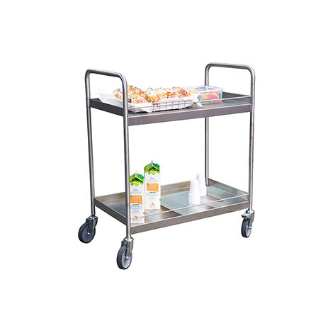 Desserte inox 2 plateaux - charge max 300kg