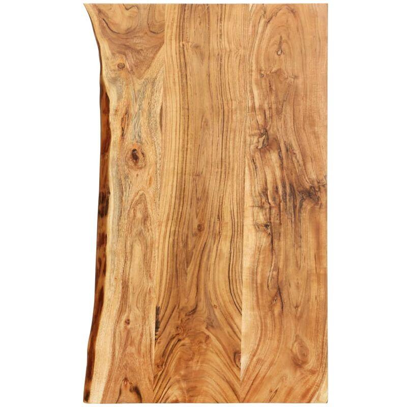 Dessus de meuble-lavabo de salle de bain Acacia 100x55x3,8 cm - ZQYRLAR