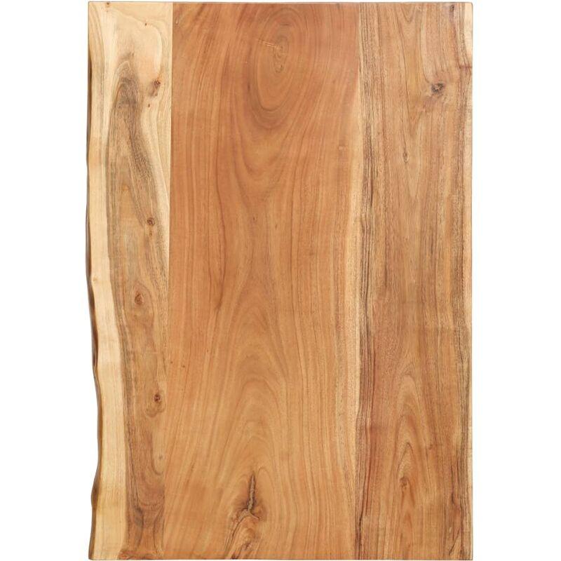 Dessus de meuble-lavabo de salle de bain Acacia 80x55x3,8 cm - ZQYRLAR