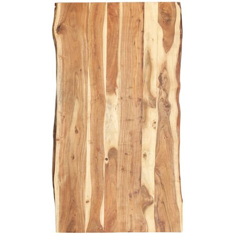 Dessus de table Bois d'acacia massif 120x60x3,8 cm
