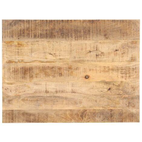 Dessus de table Bois de manguier solide 25-27 mm 70x60 cm