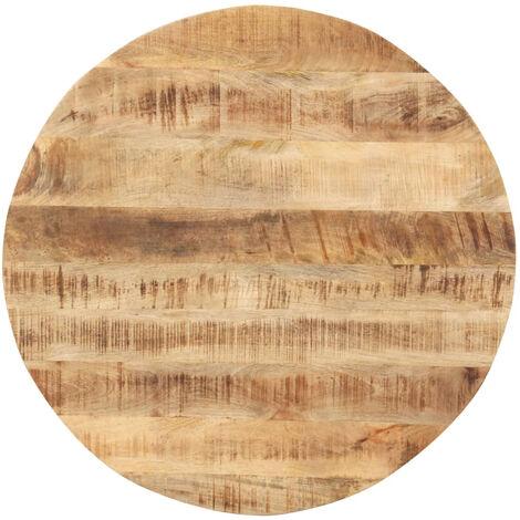 Dessus de table Bois de manguier solide Rond 15-16 mm 40 cm