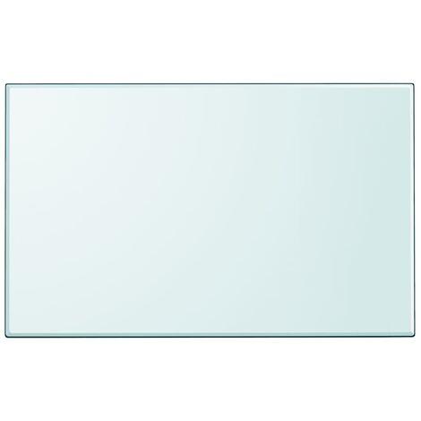 Dessus de table rectangulaire en verre trempé 1000 x 620 mm