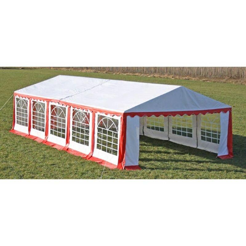 Asupermall - Dessus de tente de reception avec panneaux 10x5m Rouge et blanc