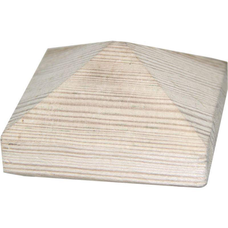 Dessus Poteau Pyramide Bois 9x9
