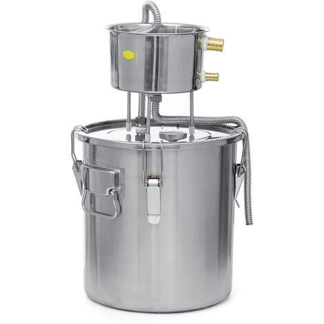Destilador de agua sin gas de acero inoxidable con condensador de cubo 22L