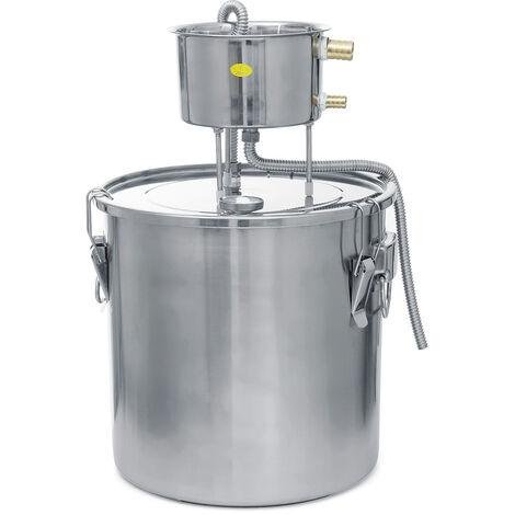 Destilador de agua sin gas de acero inoxidable con condensador de cubo 35L