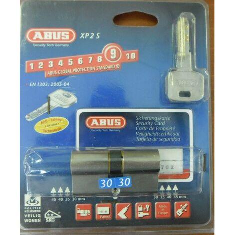 Déstock Abus - Cylindre Radial haute sécurité breveté avec 3 clés + Carte propriétaire D:30x30