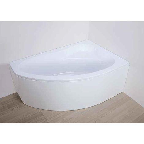 Déstock Leda - Tablier pour baignoire First Line asymétrique 150x85cm réversible Blanc - L26FL3A0101