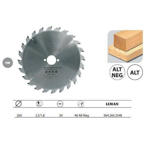 """main image of """"Déstock - Leman - Lame Carbure / Portative Festool D.260x30 Ep2,5 48z Neg. Alt."""""""