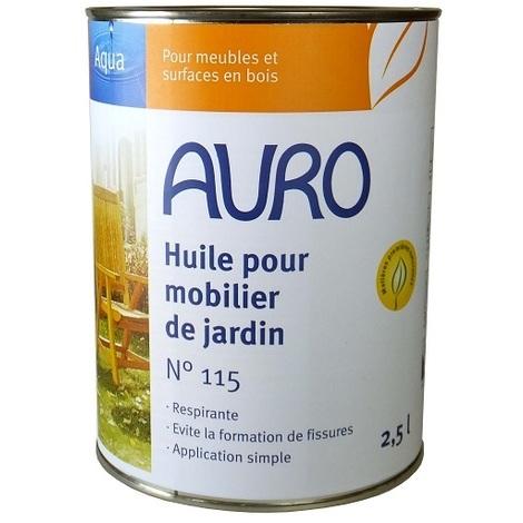 Déstockage - Auro - Huile pour mobilier de jardin 2,5L - N° 115