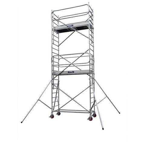 Déstockage - Duarib - Echafaudage roulant aluminium Long. 2,05 m Haut. plancher : 1,90 m - Docker2 85