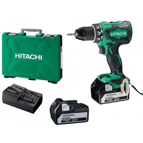 Déstockage - Hitachi - Hikoki- Perceuse visseuse 18V Li ion 2x5Ah 70 Nm (sans charbon) - DS18DBSL - TNT