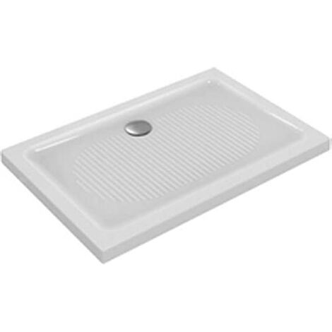 Déstockage Ideal Standard - Receveur de douche rectangulaire 140x90cm à poser antidérapant blanc - CONNECT
