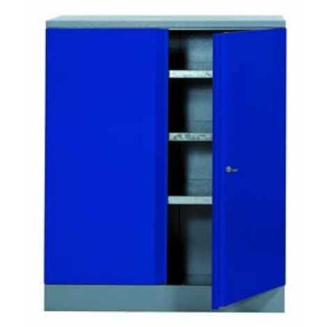 Déstockage - Kupper - Armoire 2 portes et 3 étagères - Bleu marine
