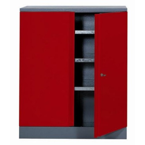 Déstockage -Kupper - Armoire 2 portes et 3 étagères - Rouge