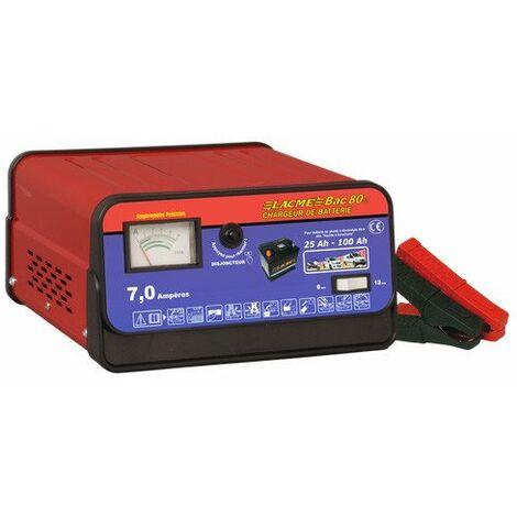 Déstockage - Lacmé - Chargeur batterie 7,5A 6V / 12V - BAC 80
