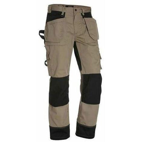 Déstockage : Pantalon de Travail Artisan Blaklader Beige / Noir tailles françaises 44 et 46 (C50 et C52) | Taille: 44
