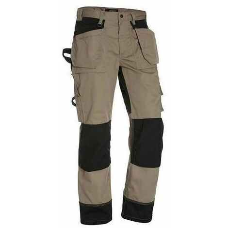 Déstockage : Pantalon de Travail Artisan Blaklader Beige / Noir tailles françaises 44 et 46 (C50 et C52)