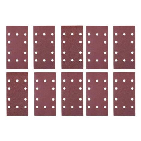 Déstockage - Sidamo - Blister De 10 Patins Corindon Non. Perf. 115x280 Gr.80 Pour Ponceuses