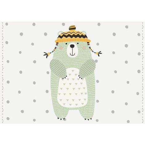 Déstockage Tapis vinyle pour chambre d'enfants - Ours polaire