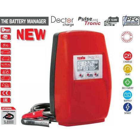 Déstockage - Telwin - Chargeur de batterie électronique 230V 12-24V - DOCTOR CHARGE 130