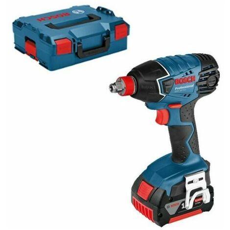 Déstockage! Visseuse et boulonneuse à chocs 2 en 1 Bosch Professional GDX 18 V-LI + 2 batteries 4Ah + L-Boxx 06019B8104