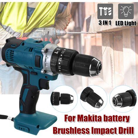 Destornillador de martillo eléctrico inalámbrico sin escobillas para batería Makita