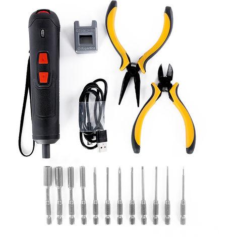 Destornillador electrico, Juego de destornilladores de torque de seis engranajes,Plata