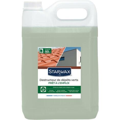 """main image of """"Destructeur de dépôts verts prêt à l'emploi pour toitures, murs et sols extérieurs 5L STARWAX"""""""
