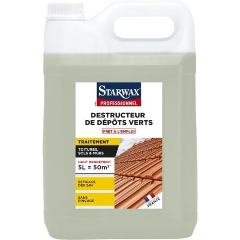 Destructeur de dépôts verts prêt à l'emploi toitures sols et murs, bidon de 5l