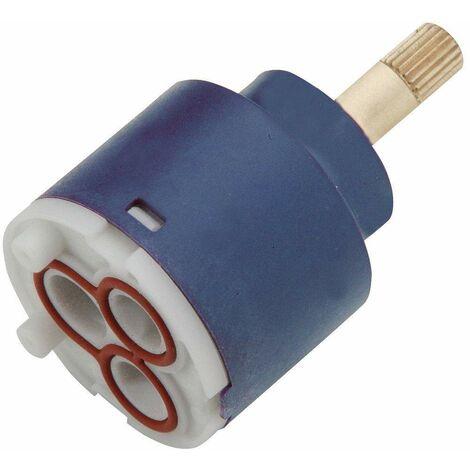 Desviador de cartucho de 2 vías Ø 35 con varilla de latón Webert AC0329000 | Cartucho