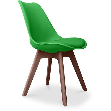 Deswick Scandinavian design Premium Chair with cushion - Dark Legs