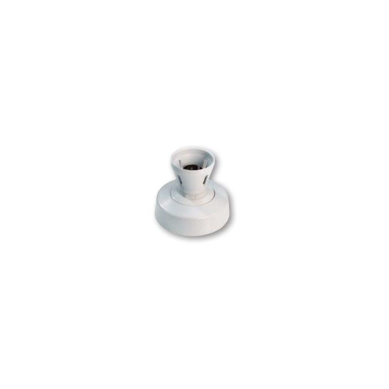 Image of V1289 Vimark Straight Batten Holder T2 Rated B22 Short Skirt Clear Ceiling Rose White Moulded - Deta